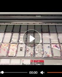 手机壳uv平板打印机打印视频
