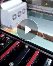 高温彩釉玻璃打印机打印视频