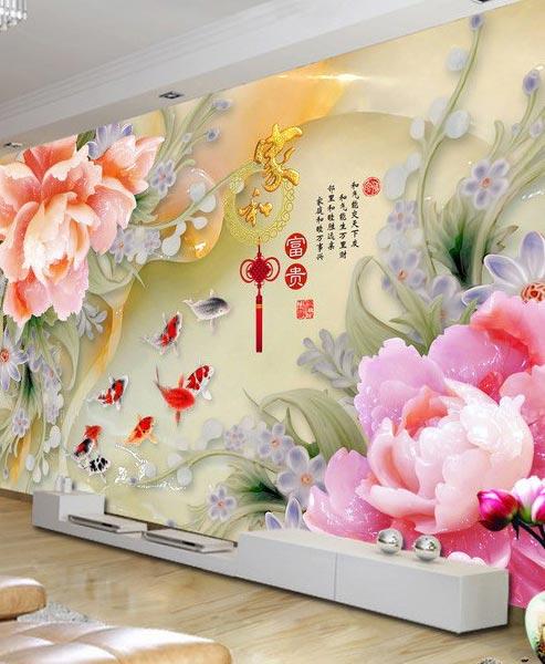 瓷砖背景墙UV平板打印机打印效果