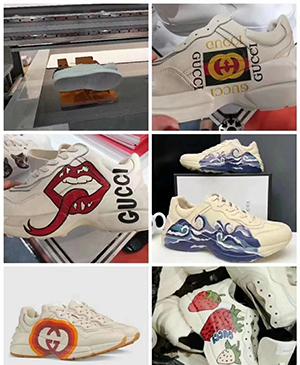 球鞋鞋面uv打印效果
